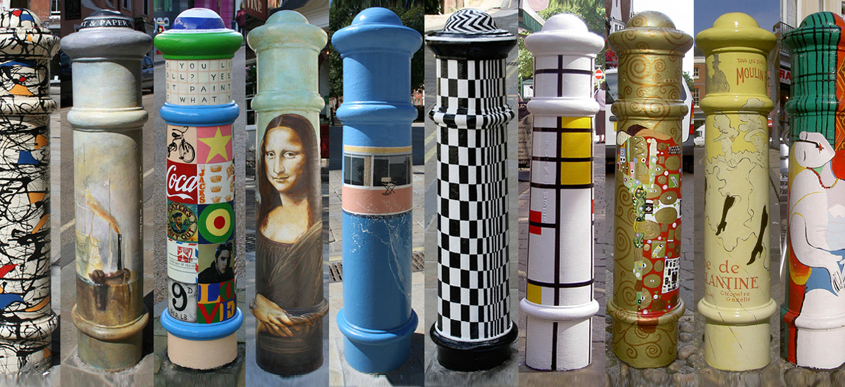 Winchester Bollards - Culture Working Group The Colour Factory